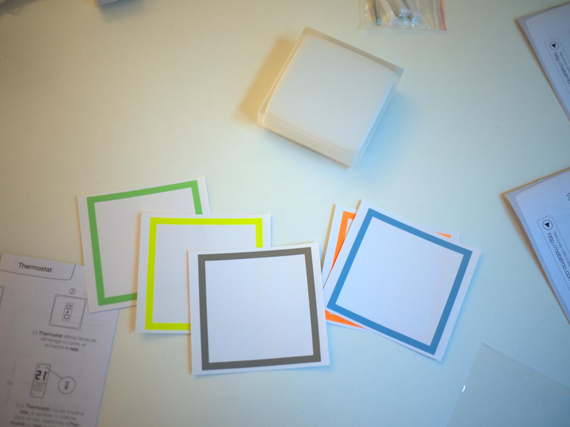 Les cadres de couleur
