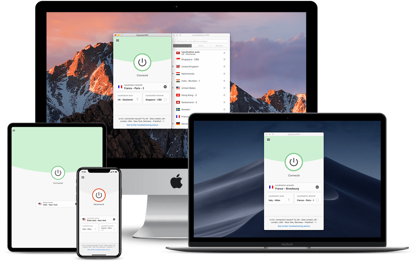 Applications ExpressVPN supports