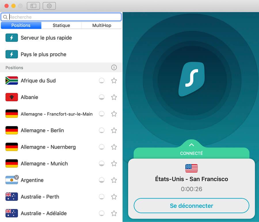 Surfshark VPN on