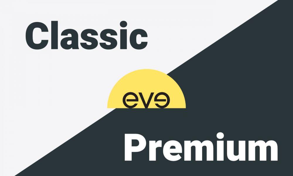 Comparatif Eve Hybrid Classic vs Hybrid Premium